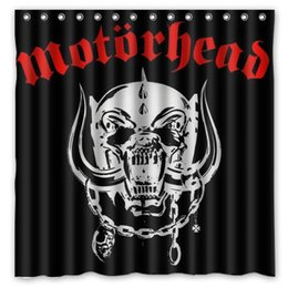 "Wholesale Shower Curtains Polyester - Wholesale- Motorhead Waterproof Fabric Bath Shower Curtain Mildewproof Polyester Bathroom Curtains with Hooks 72""x72"""