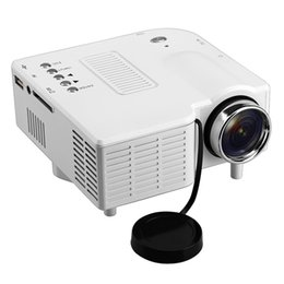 Wholesale Mini Portable Multimedia - Wholesale-Gm40 Mini HD Home LED Projector 24w Multimedia LCD Image System Portable LED Projectors for Video TV Movie Support Hdmi VGA AV