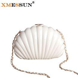 Wholesale Key Phone Holder Shapes - Wholesale- 2016 New Famous Designer Handbag Wedding Party Handbag Small Evening Bag Shell Shaped Clutch Purse ladies Mini Makeup Bag L189