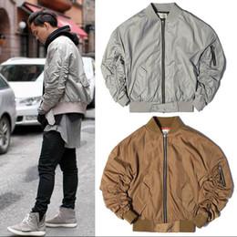 Wholesale God Air - Fear of God FOG Bomber Jacket Men's Hip Hop Justin Bieber Kanye West Season Pilote Alfa Ceket MA1 Oversize Air Force Flight Jacket