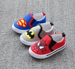 Wholesale Girl Spiders - Baby Girls First Walker Shoes Kids Boys Spider Man And Smiley Shoes Children Soft Bottom Anti-Slip Shoes Toddler Spring Footwear 1-4T