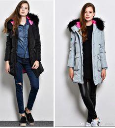 Wholesale Long Goose Coats For Women - Winter Coat Women New Women Winter Jacket For Women Hooded Long Section Down Coat Slim Waist Thick Parkas Outwear out115