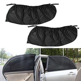Wholesale Shield Window Visor - 2 x Car Rear Side Window Sun Visor Shade Mesh Cover Shield Sunshade UV Protector