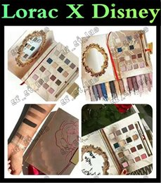 Wholesale New Light Beauty - 12PCS 2017 latest lorac new eye shadow tale as old as time 16 color high light makeup with a brush Lorac X Disney Beauty with the beast