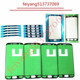 Wholesale S3 Replacement Frame - For Samsung Galaxy S3 S4 S5 E5 E7 S3 MINI S4 MINI LCD Screen Frame Sticker Middle Plate Frame Bezel Repair Replacement