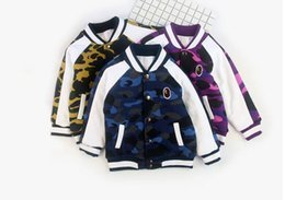 Wholesale Baby Boy Warm Clothes - New Cartoon Bear Baby Boys Jacket Kids Winter Keeping Warm Cotton aape Hoodies Coat Children Casual Outerwear Clothing