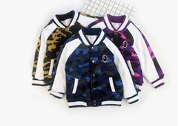 Wholesale Bear Warmer - New Cartoon Bear Baby Boys Jacket Kids Winter Keeping Warm Cotton aape Hoodies Coat Children Casual Outerwear Clothing