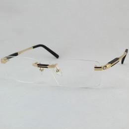 titan rimless brille großhandel Rabatt Großhandels- Chashma Marken-Marken-Designer-Titangläser randlose Mens-optische Glasrahmen
