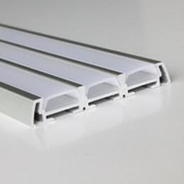 alumínio para led Desconto Perfil de alumínio de LED, 1m por peça, LED Perfil de extrusão de alumínio para tiras de LED com tampa difusa leitosa ou tampa transparente SN6009