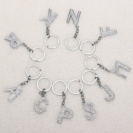 Wholesale Wholesale Small Metal Letter - Selling 26 English letters key holder metal key chain creative personality small accessories R001 Arts and Crafts mix order
