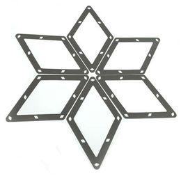 "Wholesale Magic Triangles - 6pcs packaging 9 Ball Rhombus Invisible Rack Sheet 2"" 1 4 Billiards Pool Table Triangle Black PVC Magic Racks Accessories"