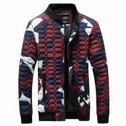 Argentina Al por mayor-nuevas llegadas hombres de moda chaqueta de invierno camuflaje del ejército con capucha abajo parka 2 colores M L XL XXL 3XL AA9 cheap wholesale fashion army jackets Suministro