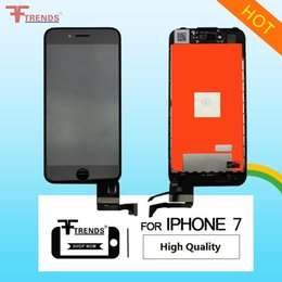 Wholesale Screens Ears - OEM High Quality A+++ for iPhone 7 LCD Display & Touch Screen Digitizer Full Assembly 3D Touch Black White Camera Sensor Ring Ear Mesh