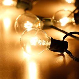 Wholesale Bulb Tree - Patio Lights G40 Globe Party Christmas String Light 25 Clear Vintage Bulbs 25ft Holiday Xmas Decorative Outdoor Backyard Garland