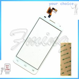 Wholesale One S Glass - Wholesale- Touch Screen Front Glass For Alcatel One Touch Idol 2 Mini S OT6036 6036 Touchscreen Digitizer Panel Sensor Lens Free ship+tape