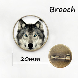 Wholesale China Wholesale Girl Dresses - Fox brooch pins Dress Accessories Fashion women men jewelry wild animal Wolf brooches Vintage jewelry gift for girls