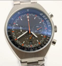 Wholesale Moon Watch Chronograph - Moon Watch 45.5MM Mens Watches Quartz Chronograph Movement Agent 007 Favorits Folding Button World Famous Brand