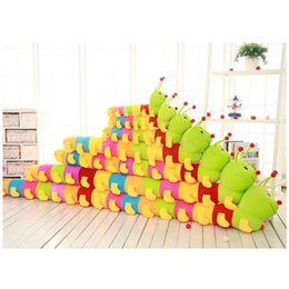Wholesale Caterpillars Baby Toys - Hot Selling Color Caterpillars Pillow Baby Doll Children Soft Stuffed Plush Animals Toys Lumbar Sleep Pillow Birthday Gift Free Shipping
