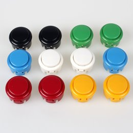 Wholesale Arcade Games Pc - 100x Arcade 30mm Push Buttons Switch Multicade For Arcade PC Games Mame Jamma KOF Arcade Pinball Machine Parts & Accessories