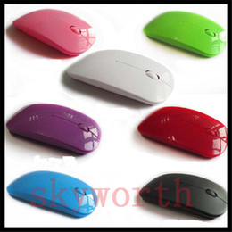 Wholesale Thin Ultrabook - Ultra thin Slim Optical 2.4G Wireless Mouse Mice Portable Ergonomically DPI Adjustable 3D USB Receiver for Macbook Laptop Ultrabook Computer