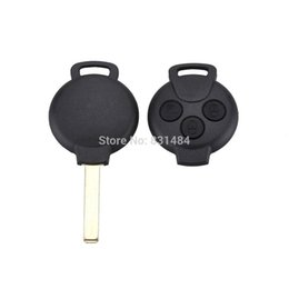 Wholesale Wholesale Benz Fob - 3 Button Remote Car Key Case cover Uncut Blade Car Key Case Shell Flip Fob for Mercedes Benz Smart Car