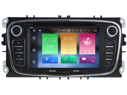 Wholesale Gps Mondeo Android - Navirider 2GB ram octa core Android 6.0 Car DVD player GPS for Ford Mondeo Focus S-Max Galaxy radio DVR 3G GPS navi headunit tape recorder