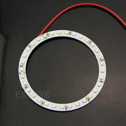 Wholesale Led Car Eye Smd - Wholesale- 2Pcs for Bright White 100mm Angel Eyes 33 SMD LED Ring Car Light
