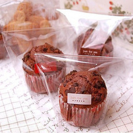 Wholesale Cookies Packaging Christmas - Clear self adhesive muffin cookie candy plastic bags gift bakery packaging for wedding christmas birthday party supplies