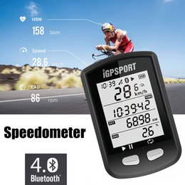 Wholesale Cycling Wireless Computers - iGPSPORT iGS10 GPS MTB Road Cycling Computer Waterproof ANT Wireless Speedometer Vdo bicycle Mileometer Bluetooth 4.0