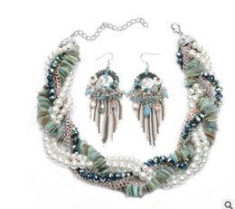 Wholesale Wonderful Earrings - wonderful natural pearl diamond twist set necklace earings 168756