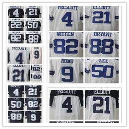 Wholesale Elite Football - Men Ezekiel Elliott Dak Prescott Jersey Sean Lee Emmitt Smith Jason Witte Dez Bryant Elite Football Jersey stitched Embroidery Logos