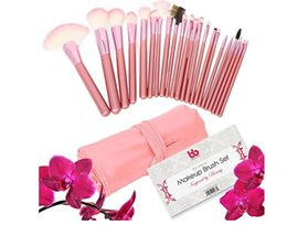 Wholesale Synthetic Precision Brush - Professional Makeup Brushes, 22 Piece Set, Pink, Vegan, with Comfortable Plastic Handles, Great for Precision Makeup & Contouring, Includes