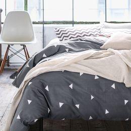 Wholesale Cotton Duvet Covers Single - Wholesale-High count density cotton Duvet covers set,Black bedding set,Double single duvet covers Twin Queen King size,bedclothes #HM4515