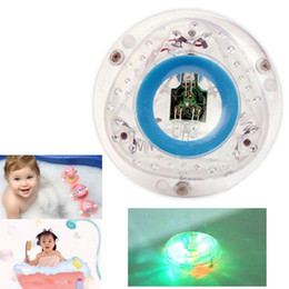 Wholesale Bathtub Tub - Wholesale- Bathroom LED Light Toy Kid ColorChanging Toys Waterproof In Tub Bath Time Fun baby bath toy color light bathtub lamp