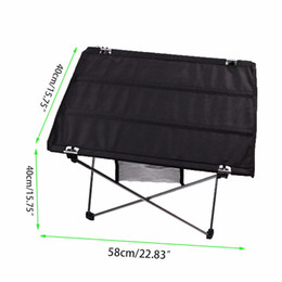 Wholesale Foldable Outdoor Tables - Wholesale- Portable Camping Desk Outdoor Foldable Oxford fabric Table For Hiking Picnic NEW