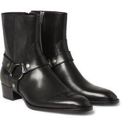 2019 стальная заслонка Человек мода Slp классический Wyatt 40 жгут сапоги в черной коже персонализированные мужские Мартин сапоги ковбойские сапоги