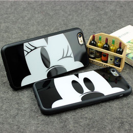 Wholesale Case Cover Minnie Iphone - Mirror Case For Apple iPhone x 7 6 6S 6 Plus 6s Plus 7 Plus 5 5s Capa Sweetheart Mickey Minnie Mouse Silicone Phone Cover Shell
