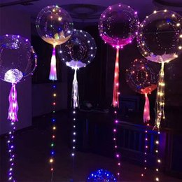 Wholesale meter balloons - Luminous Led Transparent 3 Meters Balloon Flashing Wedding Party Decorations Holiday Supplies Color Luminous Balloons OTH103