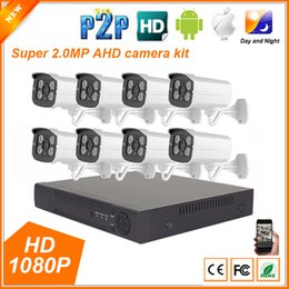 Wholesale Home Surveillance System Hd - 8CH AHD 1080P 2MP Full HD Home Outdoor CCTV System Kit 8 Channel Array Surveillance Camera 1080P Security Kit