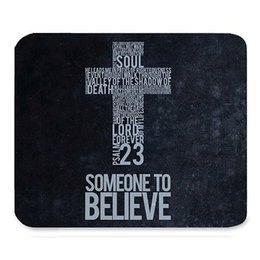 Wholesale Unique Custom Gifts - Inspirational Christian Bible Verse Faith Scripture Quotes Beautiful Best Gift Art Pattern Design Unique Custom Rectangle Mouse Pad