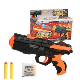 Wholesale Classic Guns - Kids Summer Toys Water Gun Free Paintball Bombs And Soft Bullets Orange Yellow Color Shooting Water Crystal Gun Air Soft Gun