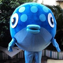 Wholesale Adult Clown Fish Mascot - Blue Nemo Fish Mascot Costume Adult Size Christmas Party Blue clown Fish Cartoon Mascot Costume Fancy Dress
