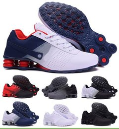 Wholesale China Athletic Shoes - Bests Air Shox Deliver Running Shoes Men Man Men's Black Shoxs NZ Current Trainers Shoes Athletic Zapatilla Homme China Brand Sports Sneaker