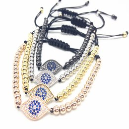 Wholesale Evil Eye Hamsa Beaded Bracelet - Fahion men turkish evil eye handmade braided rope bracelet jewelry charm hamsa bracelets & bangles Braiding Bracelets