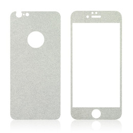 Wholesale Sparkling Screen Protector - For Iphone 6 6S Plus 5.5 0.3MM Sparkle Front +Back Bling Glitter Shiny Full Body Premium Tempered Glass Screen Protector 70pcs
