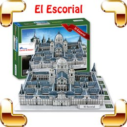 Wholesale Pc Game Collection - New Arrival Gift El Escorial Monastery 3D Puzzle Model Building DIY Collection House Decoration Puzzle Toy Game PCS Up PUZ Toy