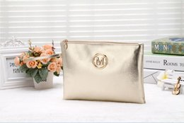 Wholesale Metallic Tote Bags Wholesale - 20pc 2017 New Women Evening Handbag Lady Envelope Clutch Tote Bag Purse wallet cosmetic bag by goodfiathgirl free shipping