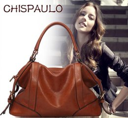 Wholesale Large Party Bags Free Shipping - The Female Leather Women Bags 2016 Hot Women Genuine Leather Women Messenger Bag Vintage handbag designer Retro Bags FREE SHIPPING