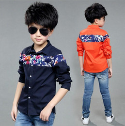 Wholesale 13 Years Kids Clothes - 2016 Spring Autumn Children's Clothing New Brand kids Shirts Casual Cotton Long Sleeve Baby Boys Shirts For3-13 Year Old