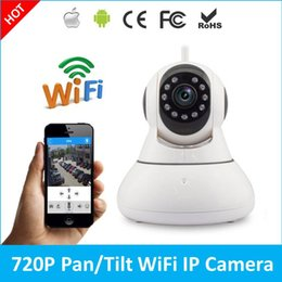 Wholesale Home Cctv System Monitor - 2017 newest 720P HD Mini Wireless IP Camera Wifi Pan Tilt Infrared Led CCTV P2P Remote Monitoring Home Security System IPcam